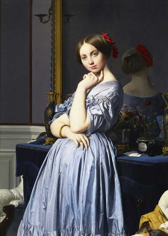 Portrait of Comtesse d'Haussonville (1845) by Jean-Auguste-Dominique Ingres, Frick Collection, New York