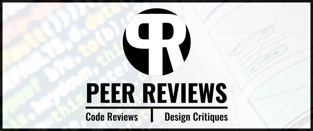 PeerReviews.dev banner