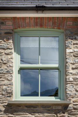 Vertical slider window photo