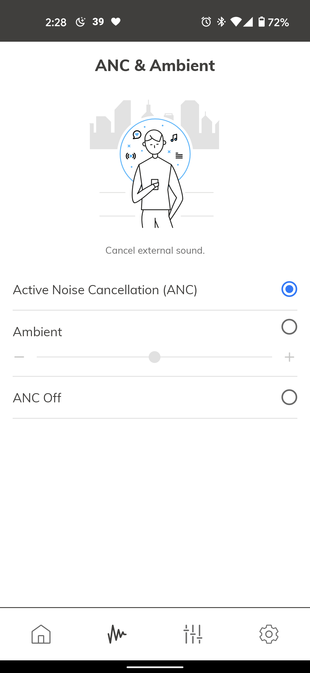 ANC and Ambient options