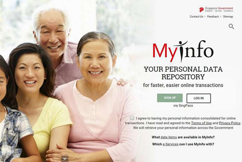 MyInfo splash screen
