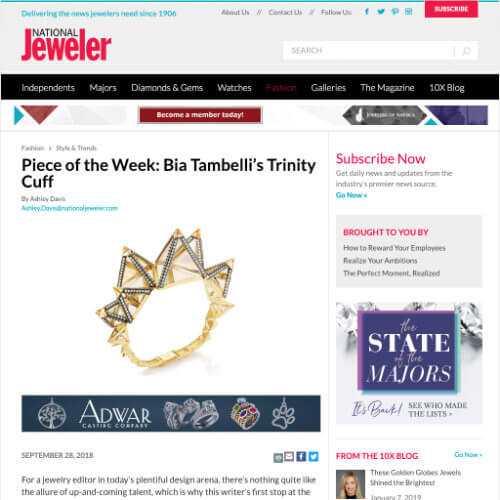 Piece of the Week: Bia Tambelli's Trindade Cuff