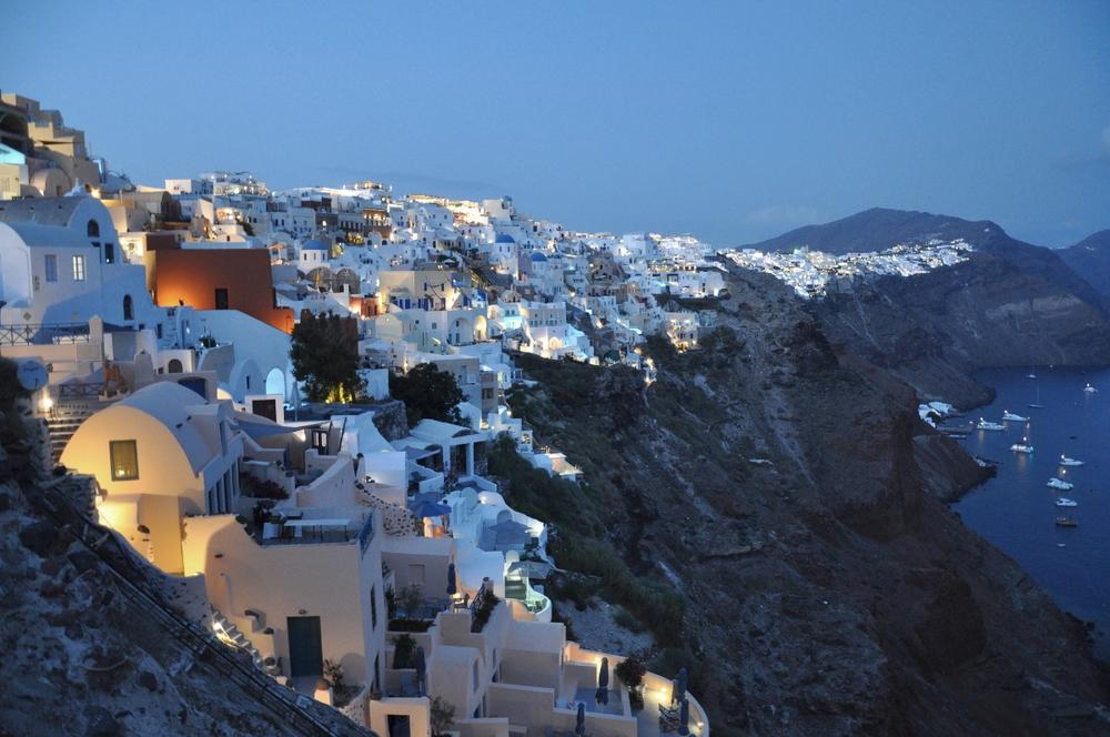 Dreamland of White Houses in Oia, Santorini