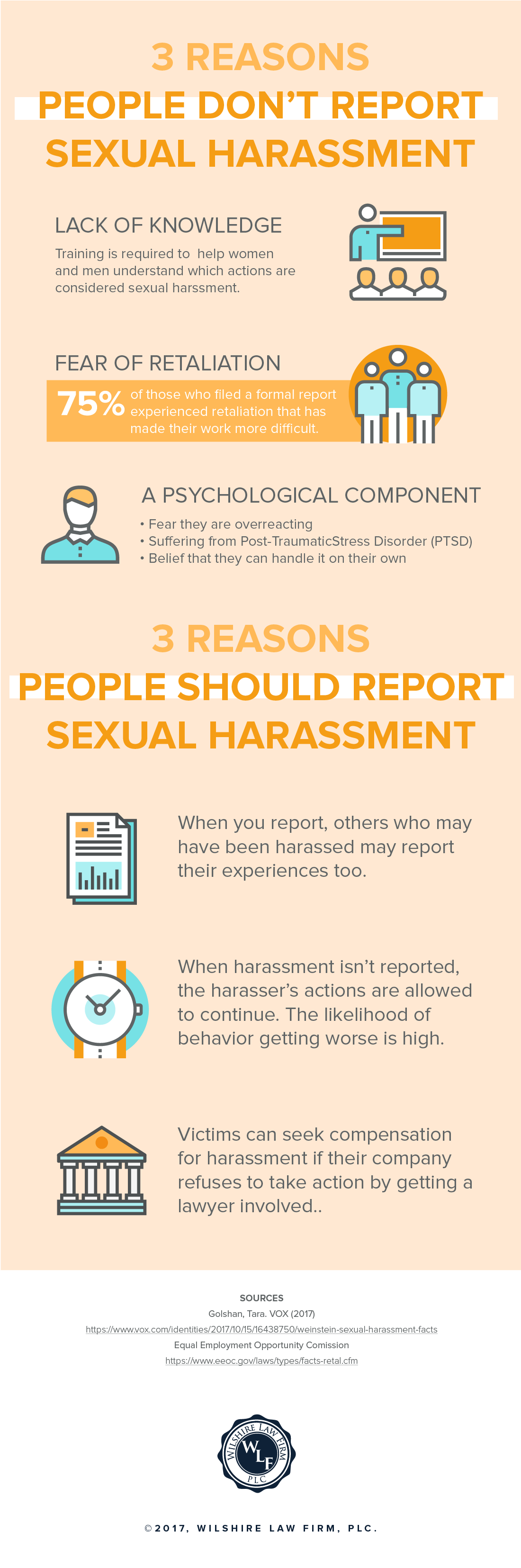 3 Reasons People Don't Report Sexual Harassment Infographic