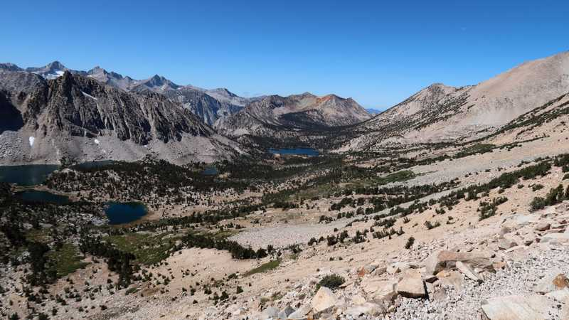A view from Kearsarge Pass