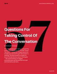 Job interview questions answers guide 57 clever questions for taking control of the conversation fandeluxe Choice Image