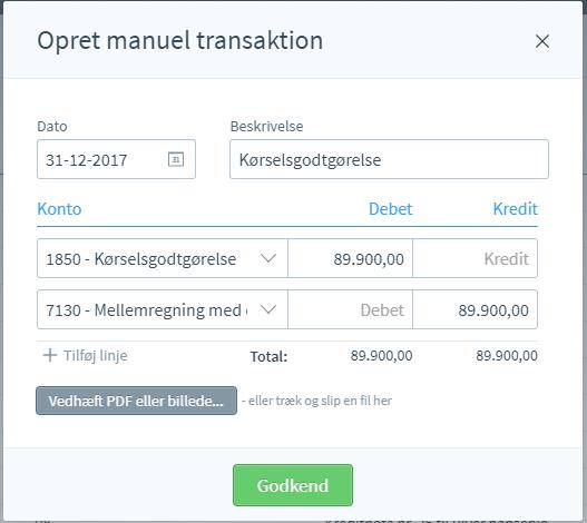 manuel transaktion