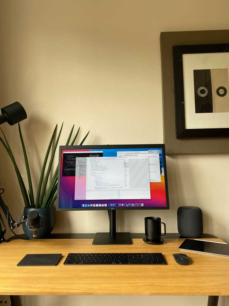 Rafa's desk, front view