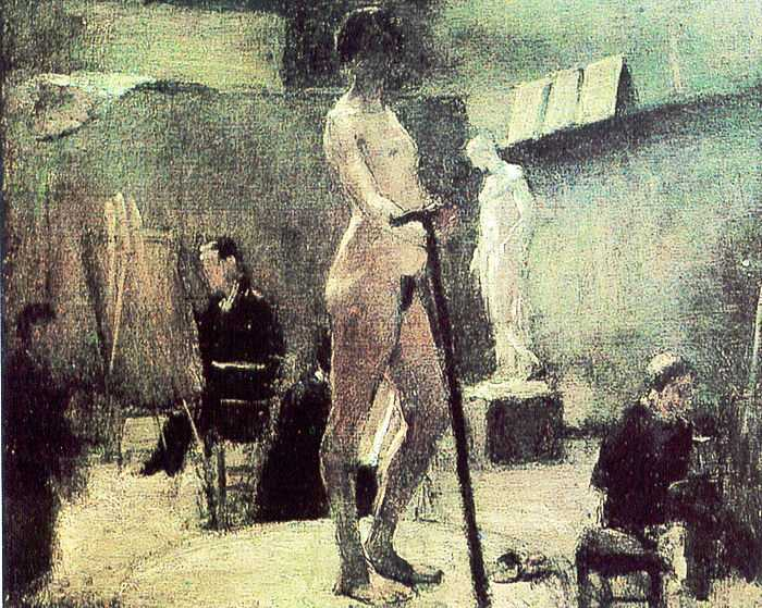 'Gustave Moreau's Studio' by Matisse in 1894-1895