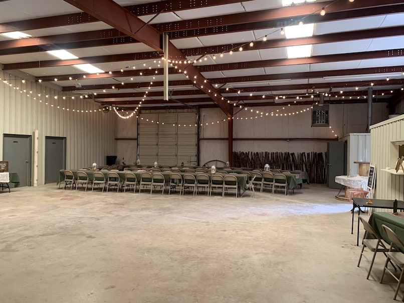 More seating area at the Chapel Falls barn