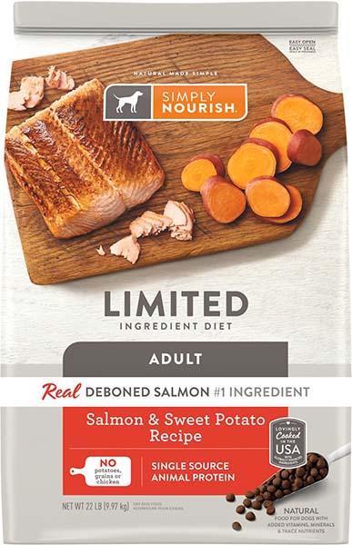 Image of the Simply Nourish dog food in the brand new packaging