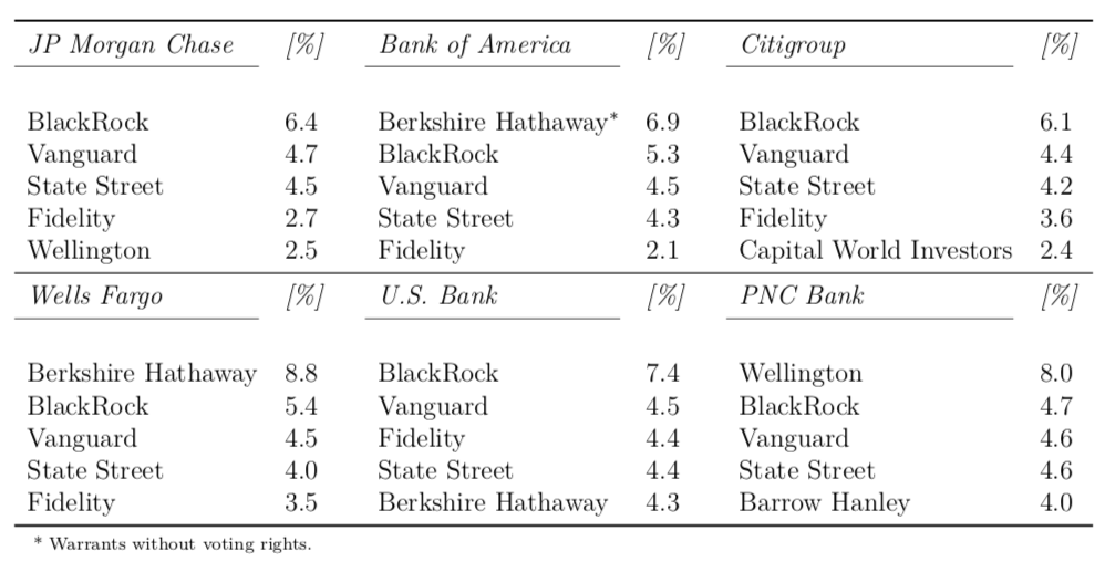 Bank Stake Distribution