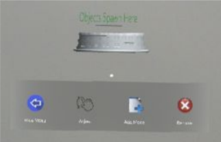 Model options menu