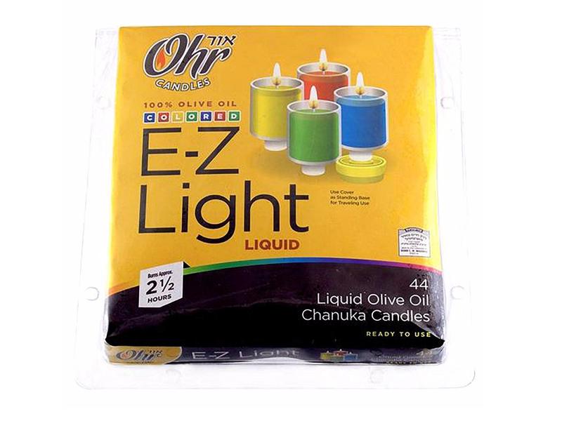 E-Z Light Coloured Liquid Olive Oil Lights 2.5 Hours (44 Pack)