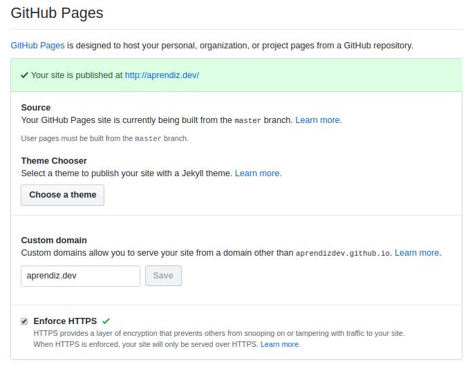 Adicionando um domínio personalizado no GitHub Pages
