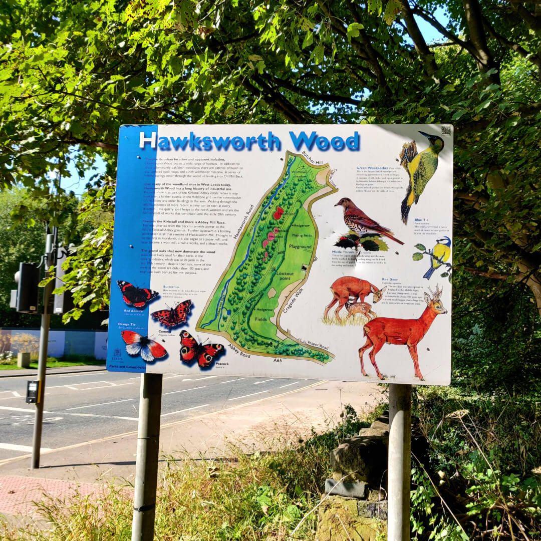 Hawksworth Wood signage