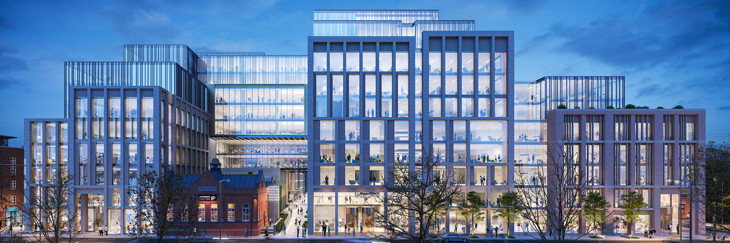 CGI image of the new Kevin Street development, Camden Yard at Dublins old DIT campus