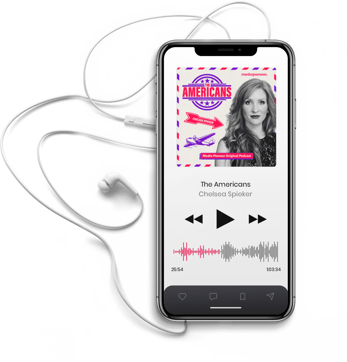iPhone mit The Americans Podcast