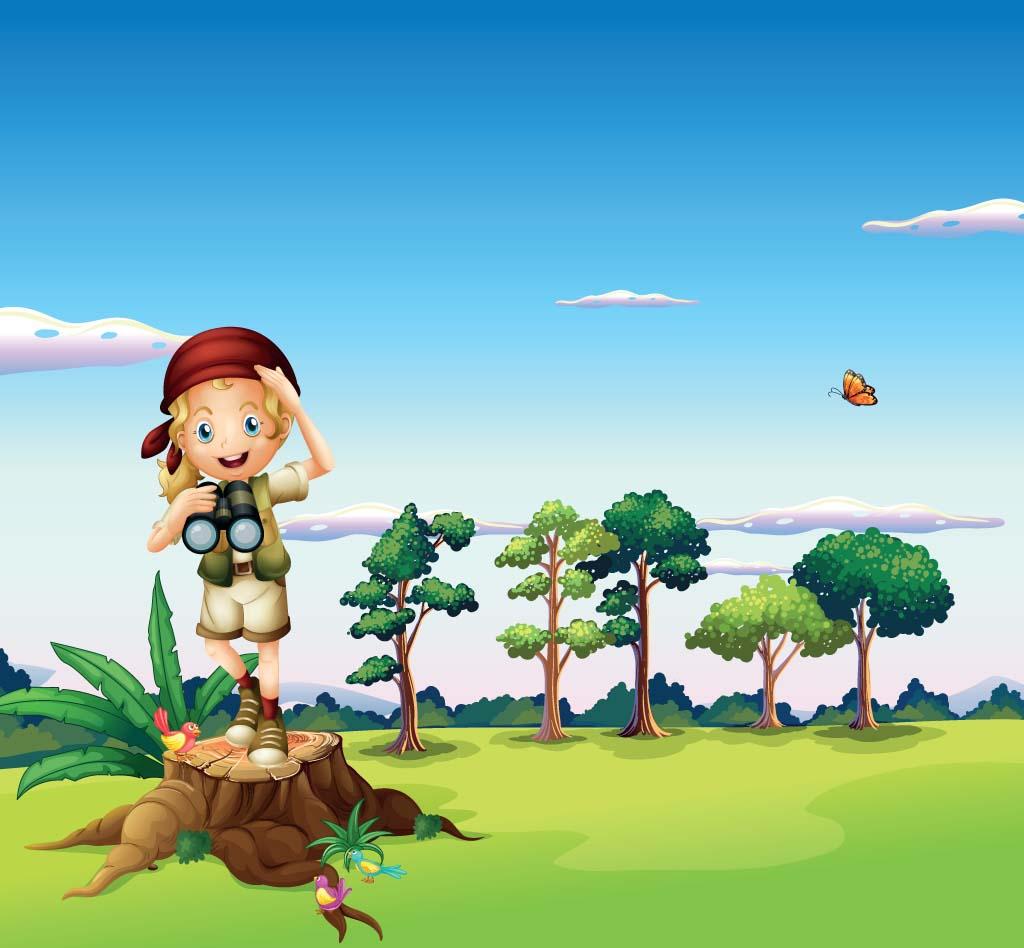 Adventurer girl exploring the world
