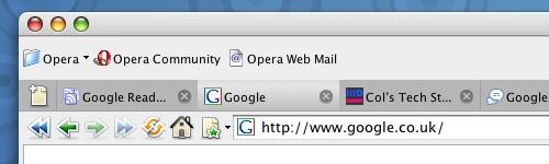 Opera Toolbar Ordering