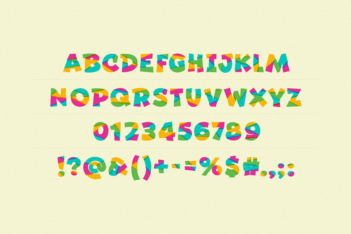 Colorful Beebzz Typefaces images/promo_beebzz_2.jpg