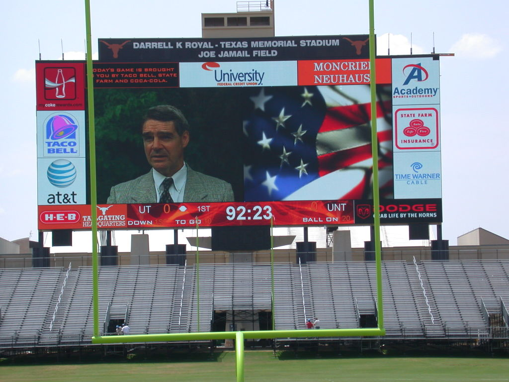 Texas Longhorns Football Stadium Jumbotron