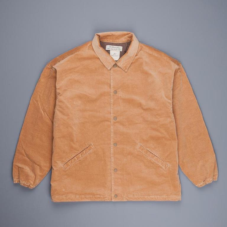 Cord coach jacket