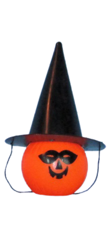 Masked Pumpkin w/ Witch Hat photo