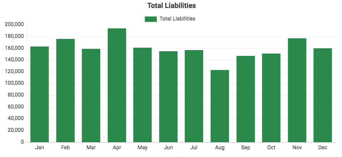 Custom QuickBooks chart showing Total Liabilities