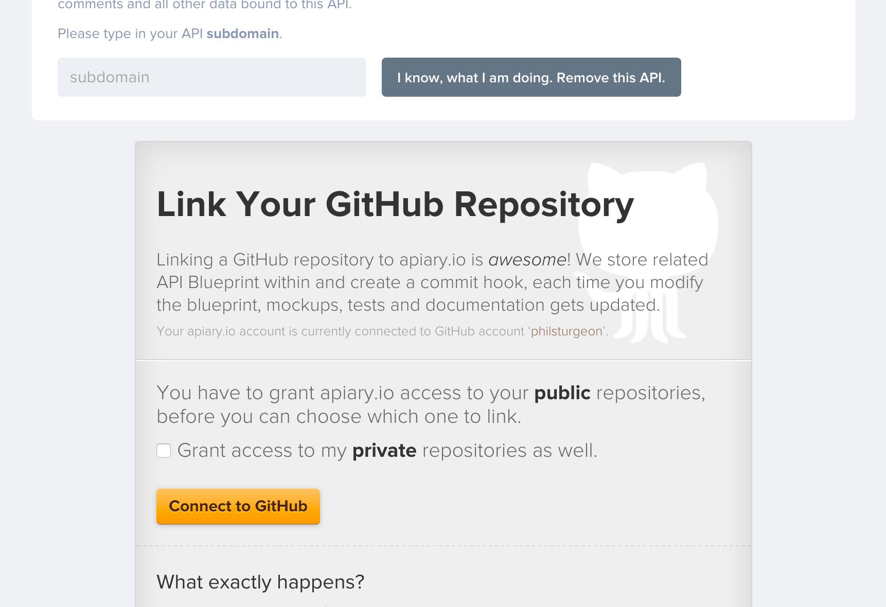 Link your repo on GitHub.