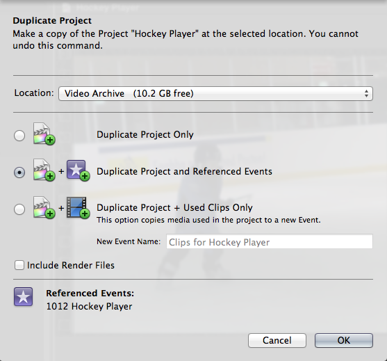 Duplicate Project