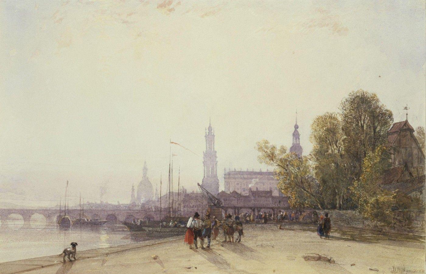 Уильям Уайльд. Вид на Дрезден. 1806. Из собраний Музея Виктории и Альберта, Лондон
