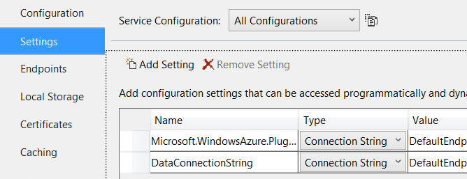 CloudConfigurationSettings