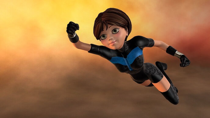 illustration of a super hero