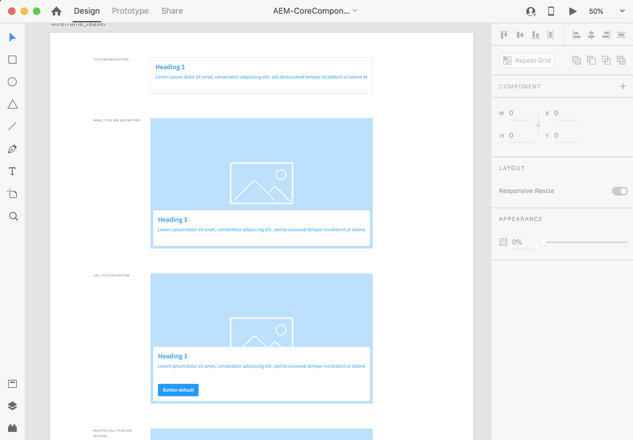 Adobe XD with Core Components