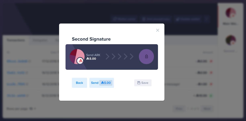 Submit Second Signature Registration