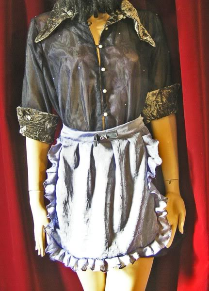 Custom sheer, velvet and pearl Timewarp dress (price on request)