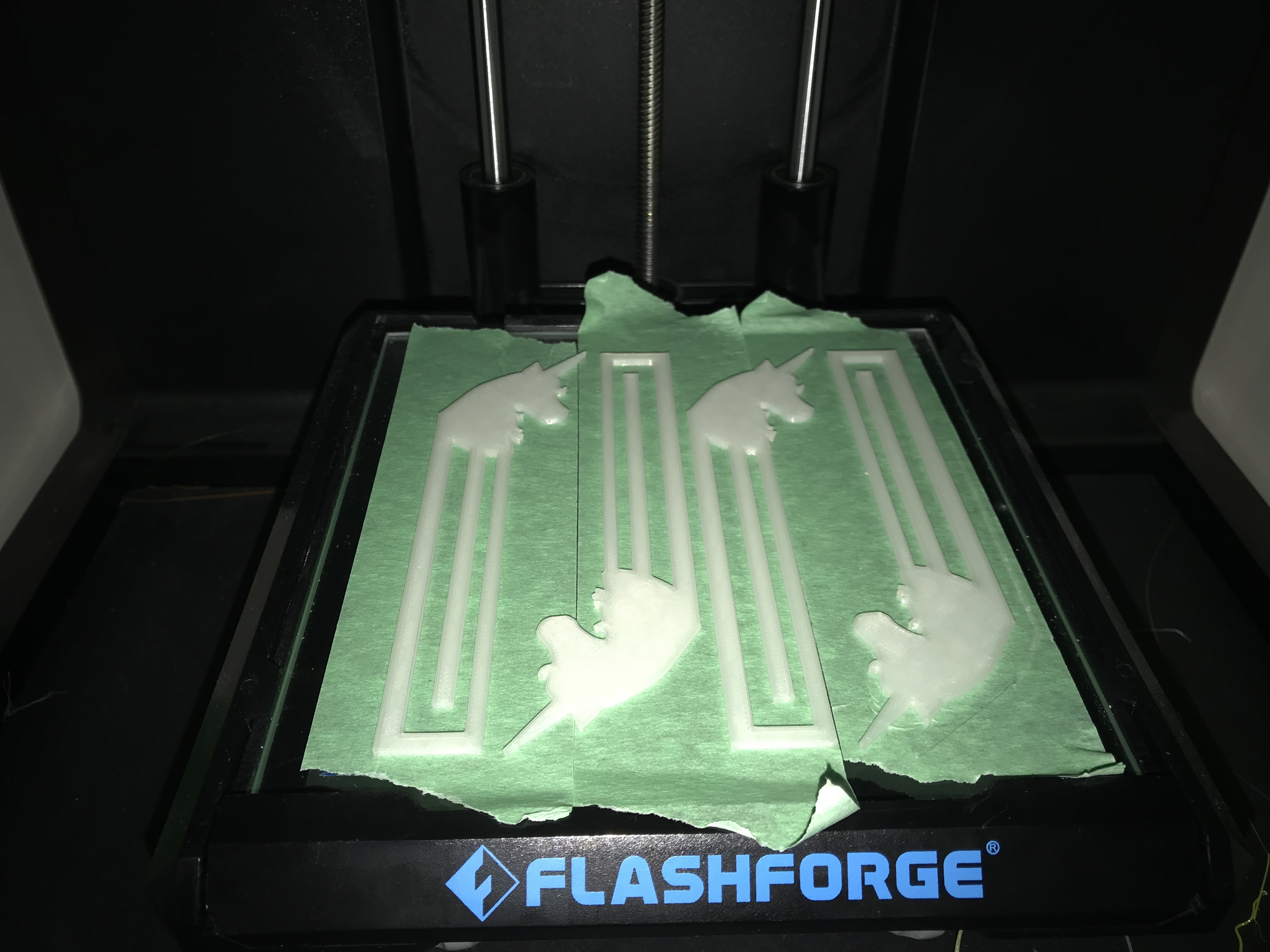 On the print bed with flash