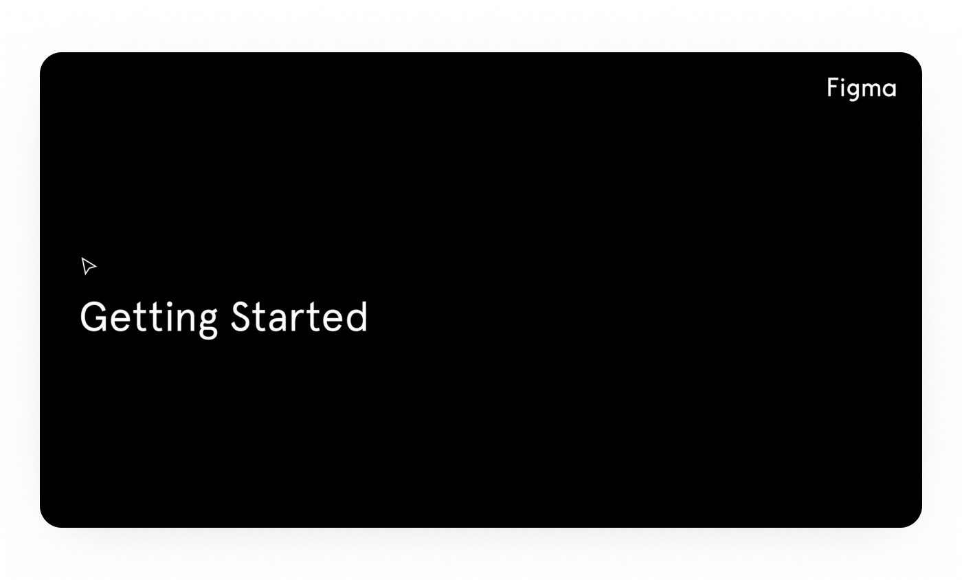 A screenshot from Figma's 'Getting Started' video on YouTube