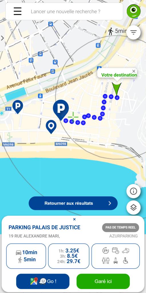 Parking Palais de Justice de Nice