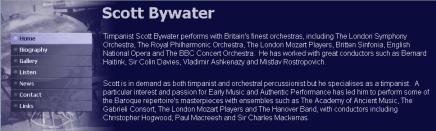 Screenshot of  ScottBywater.co.uk