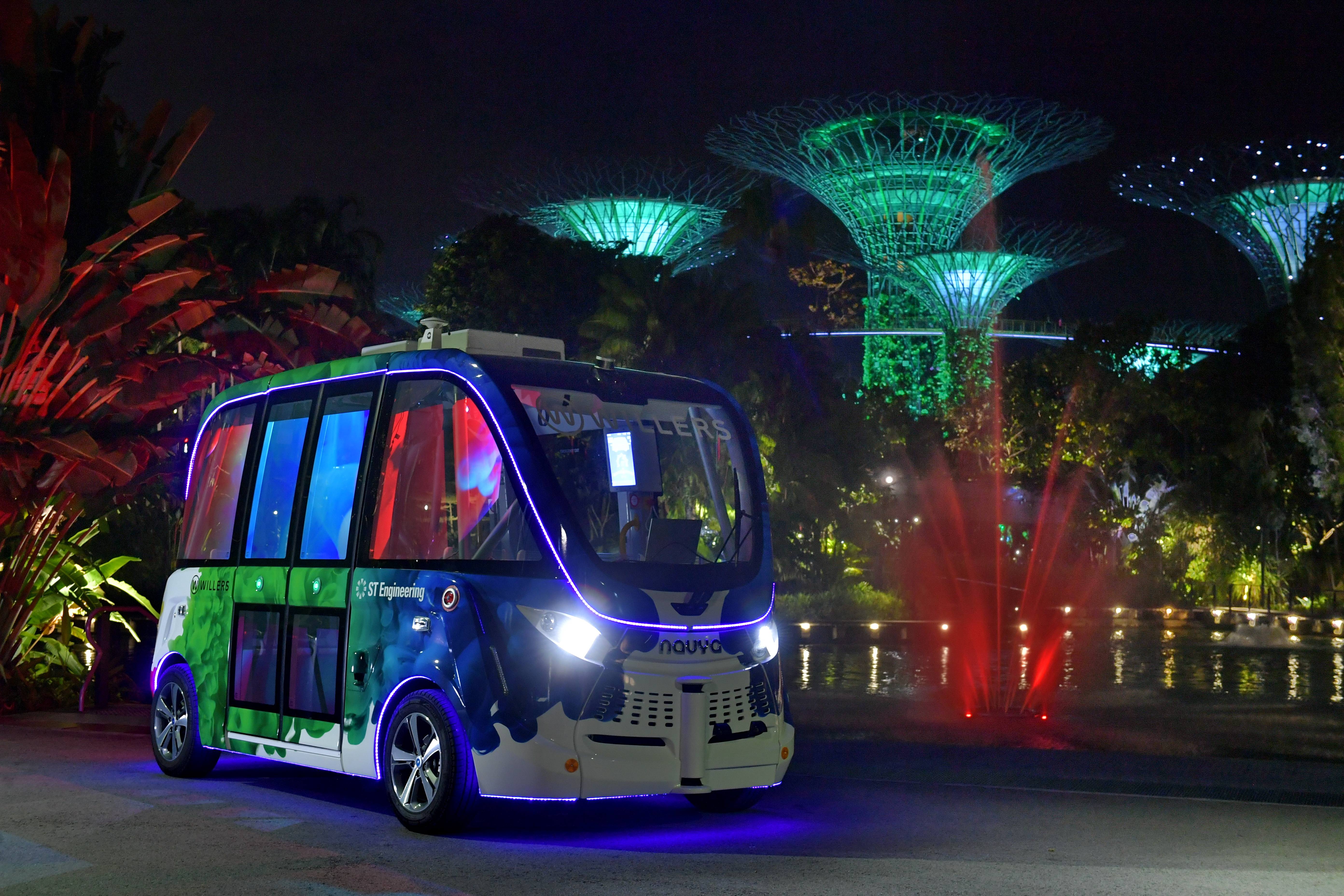 Gardens by the bay self driving vehicle