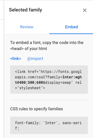 Embed fonts