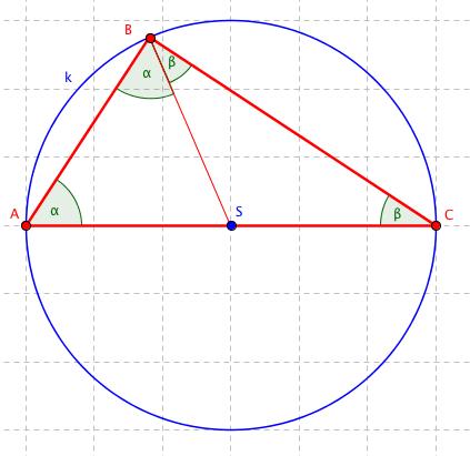 Trojúhelník s vyznačenými úhly