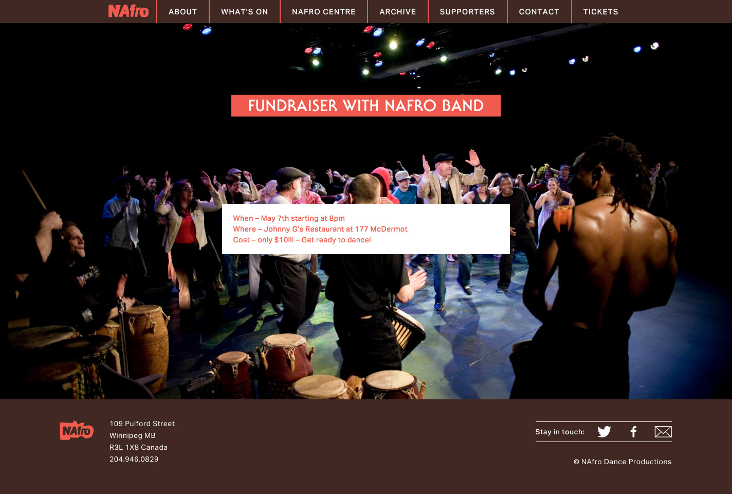 NAfro Dance home page