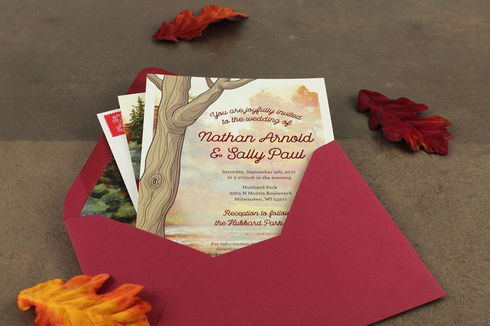 Sally & Nathan's wedding invitations