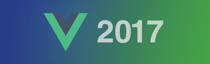 image showing the vue.js logo and the number 2017