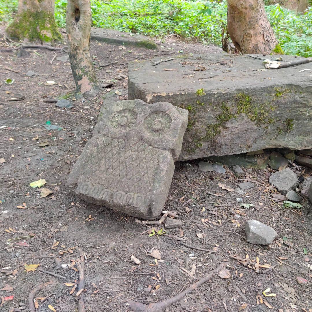 Calverley Wood Leeds owl engraving