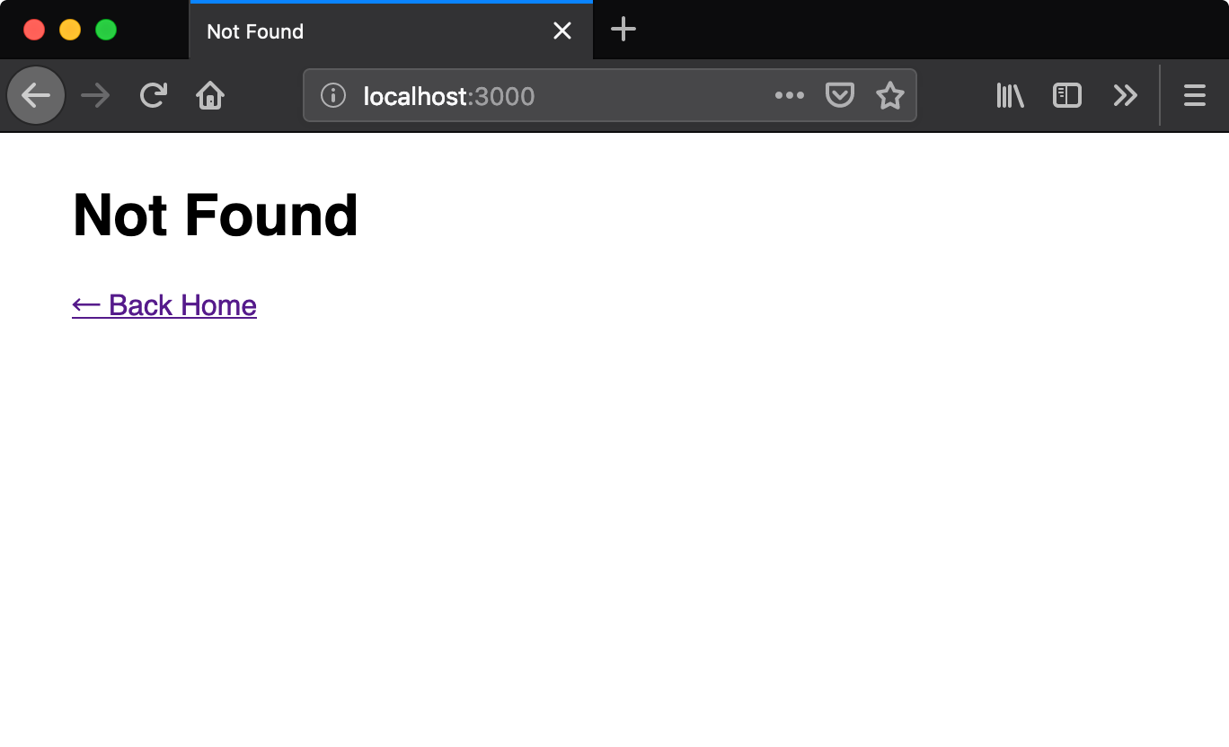 not found page