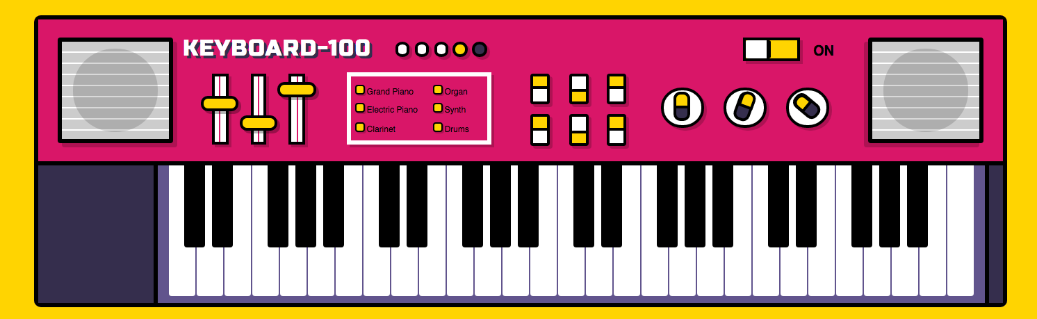 css image of a piano keyboard